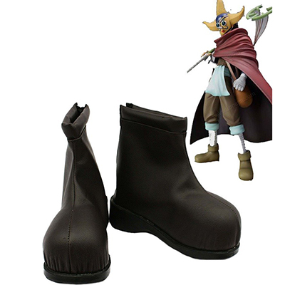One Piece Anime Usopp Cosplay Scarpe Stivali Marrone Carnevale
