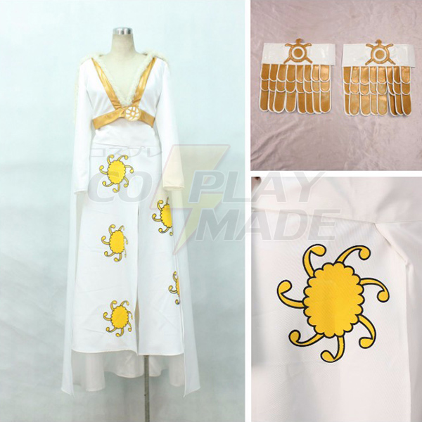 One Piece Boa Hancock White Dress Cosplay Costume