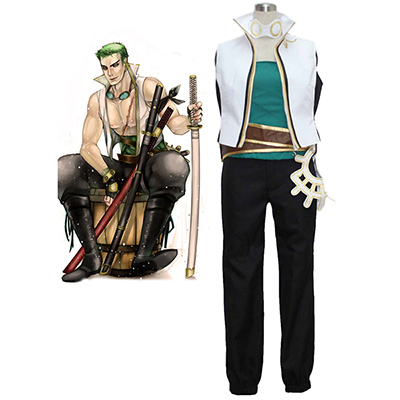 Disfraces One Piece Roronoa Zoro Sword Master Cosplay Carnaval