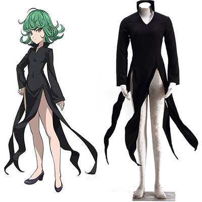 Fantasias de One-Punch Man Tatsumaki Cosplay Halloween