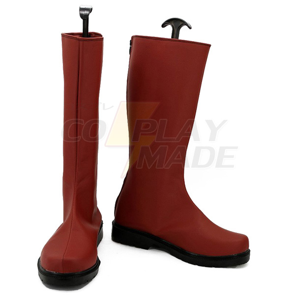 One Punch Man Caped Baldy Saitama Cosplay Shoes Red Boots Custom Made
