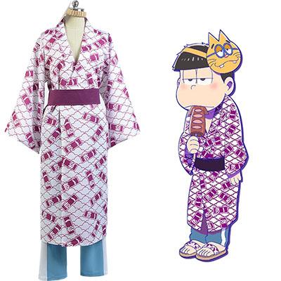 Fantasias de Osomatsu-kun Ichimatsu Yukata Kimono Cosplay