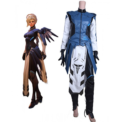 Costume Overwatch Game OW Cobalt Mercy Cosplay Déguisement Carnaval