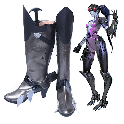 Overwatch OW Widowmaker Cosplay Csizma Cipő Halloween