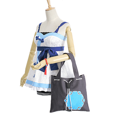 Overwatch Game Mei Cosplay Costume top+pant+bag with Hair Accessory