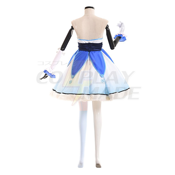 Overwatch Custom Made Mei Dress Cloaks Gloves Stocking Costume Cosplay