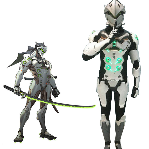Overwatch OW Genji Cosplay Costume Custom made