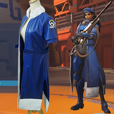 Overwatch Ana Captain Amari Halloween Cosplay Costume Outfit Customize