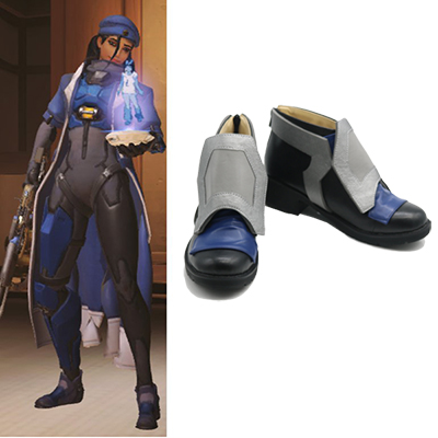 Overwatch OW Ana Cosplay Laarzen Custom-Made Schoenen