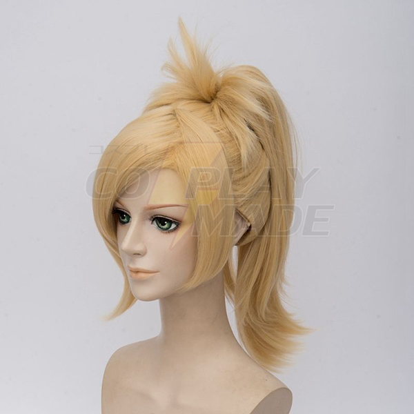 Overwatch Angela Ziegler Cosplay Parrucche OW Mercy Ponytail Blond