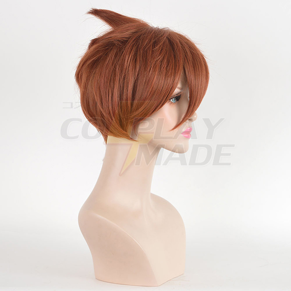 Pelucas Overwatch Cosplay Short Pixie Cropped Styled Hair Rojo Copper