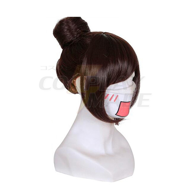 Overwatch OW Game Mei Cosplay Wigs 32 cm Brown