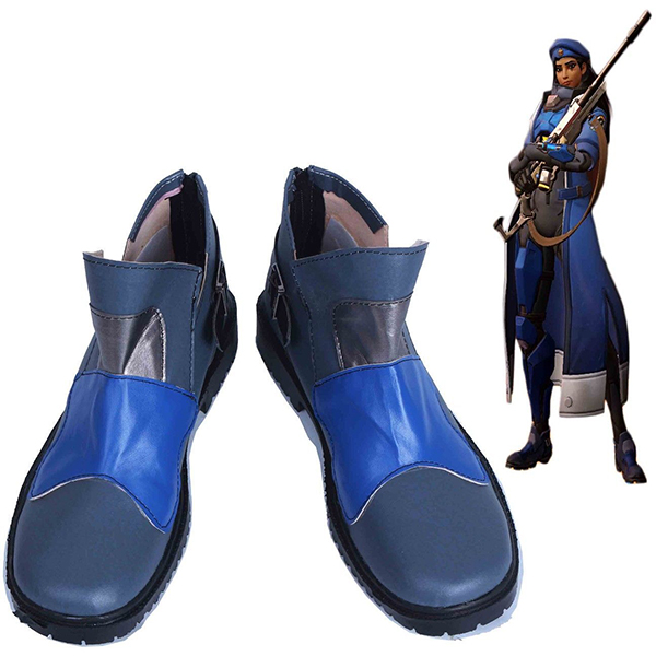 Overwatch OW Ana Amari Cosplay Boots Shoes Handmade