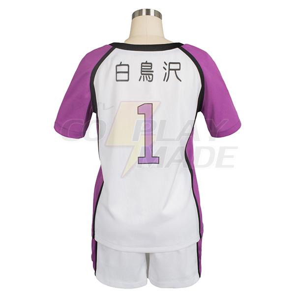 Costumi Haikyu Haikyuu Shiratorizawa Academy Wakatoshi Uniforme Cosplay