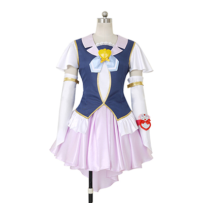 Happiness Charge PreCure Cure Fortune Lolita Klänning Cosplay Kostym