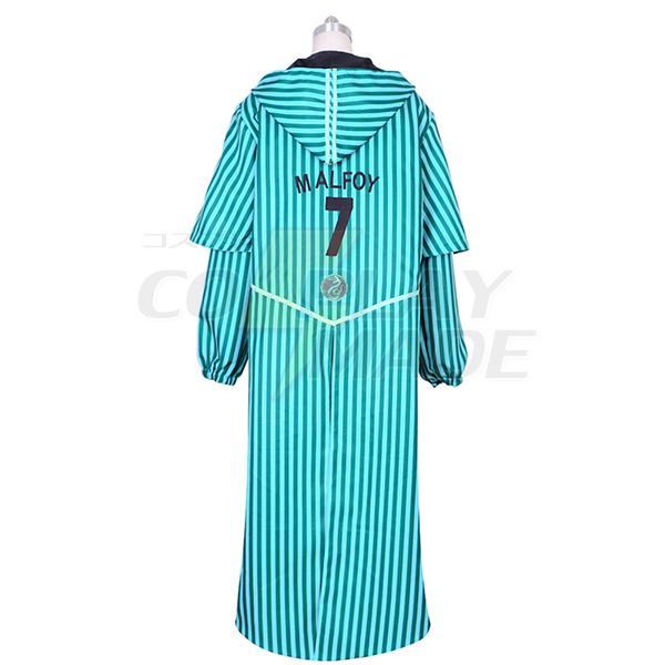 Harry Potter Quidditch Robe Slytherin Draco Malfoy Costume Cosplay