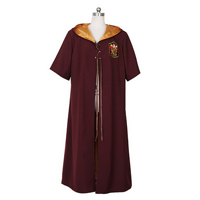 Fantasias de Harry Potter Quidditch Robes Gryffindor Vermelho Capa Cosplay