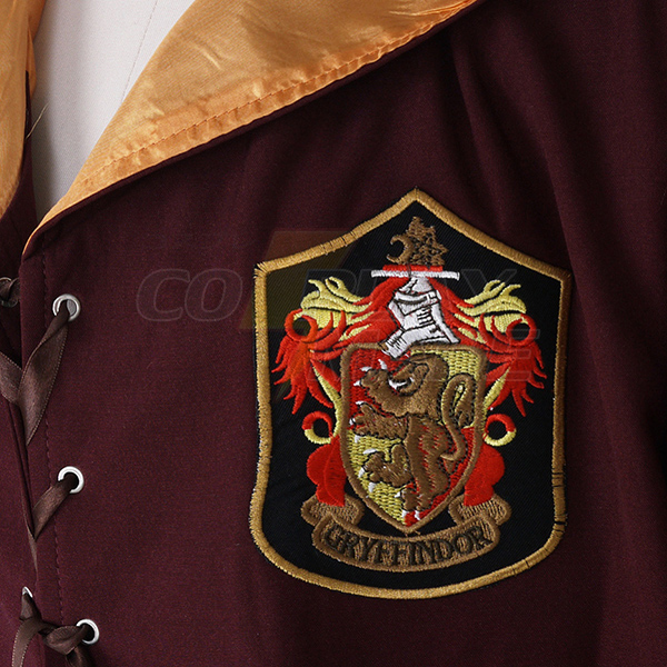 Harry Potter Quidditch Robes Gryffindor Red Cape Costume Cosplay