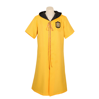 Harry Potter Quidditch Robes Hufflepuff Robes Gul Color Cape Kostym