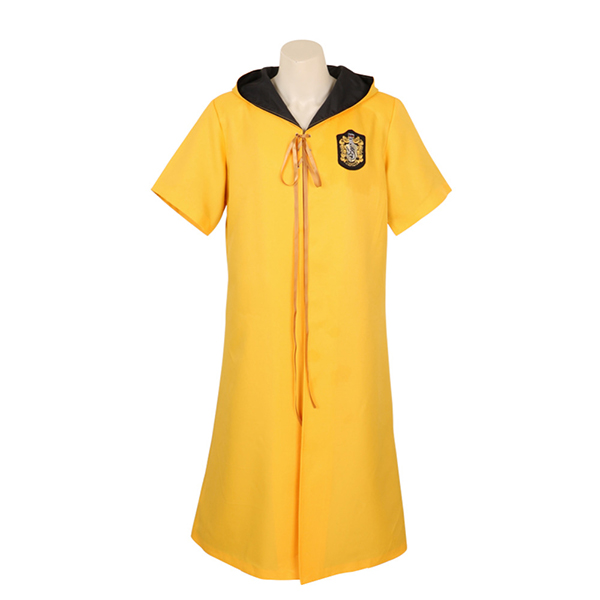 Harry Potter Quidditch Robes Hufflepuff Robes Yellow Color Cape Costume