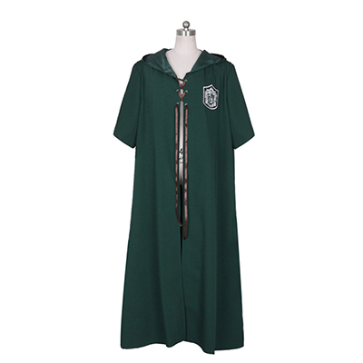 Harry Potter Quidditch Robes SLYTHERIN Kappe Cosplay Voksne Kostyme