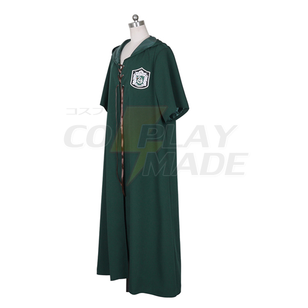Harry Potter Quidditch Robes SLYTHERIN Cloak Cosplay Adult Costume