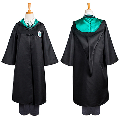 Harry Potter Slytherin Skoluniform Draco Malfoy Cosplay Kostym Chil