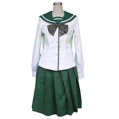 Highschool of the Dead Cosplay Fujimi Academy Skolflickor Enhetliga Cosplay Kostymer