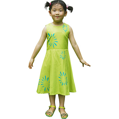 Costume Inside Out Joy Kids Girls Jaune Robes Halloween Cosplay Déguisement Xmas Cadeaux