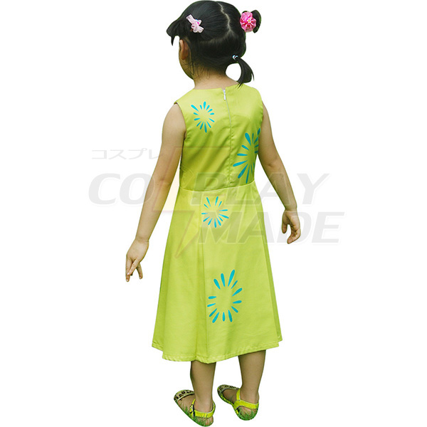 Inside Out Joy Kids Girls Yellow Dress Halloween Cosplay Costume Xmas Gift