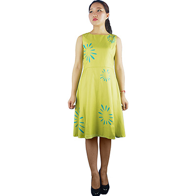 Inside Out Joy Yellow Summer Dress Halloween Anime Cosplay Costume Women Adults