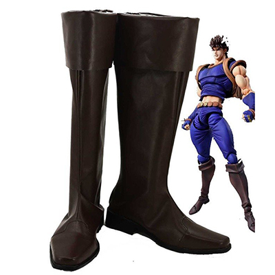 Zapatos JoJo's Bizarre Adventure 1 Jonathan Joestar JoJo Cosplay Marrón Botas Originales Made