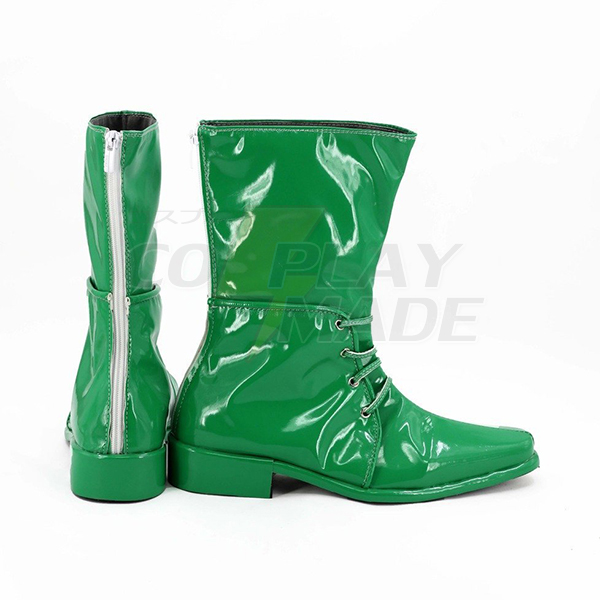 JoJo\'s Bizarre Adventure 2 Caesar Anthonio Zeppeli Boots Cosplay Shoes Green Boots Custom Made