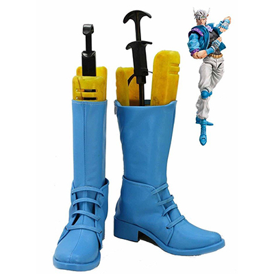 JoJo's Bizarre Adventure 2 Caesar Cosplay Shoes Blue Boots Custom Made