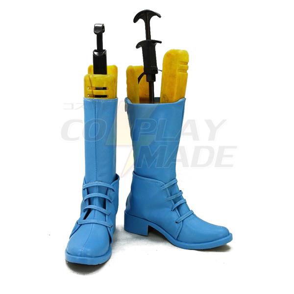 JoJo\'s Bizarre Adventure 2 Caesar Cosplay Shoes Blue Boots Custom Made