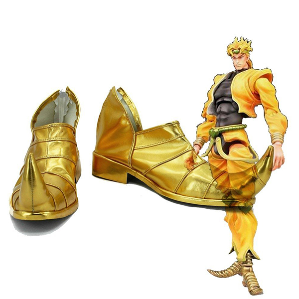 JoJo\'s Bizarre Adventure 3 Dio Brando Cosplay Shoes Golden Custom Made