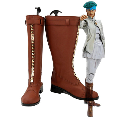 Zapatos JoJo\'s Bizarre Adventure 4 Rohan Kishibe Botas Cosplay Long Botas Originales  Made