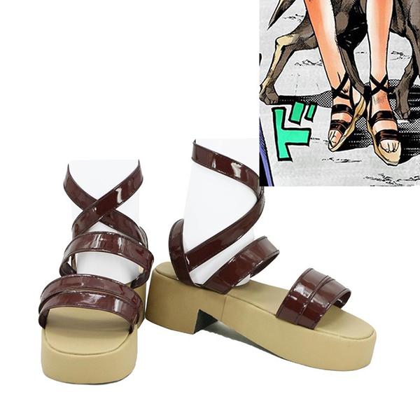 JoJo\'s Bizarre Adventure 4 Sugimoto Reimi Shoes Cosplay Shoes Boots Custom Made