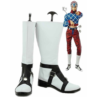 JoJo's Bizarre Adventure 5 GUIDO MISTA Cosplay Shoes White Boots Custom Made