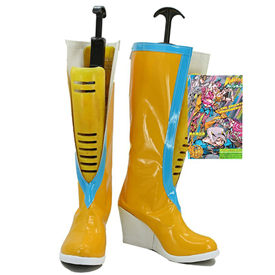 Jojo's Bizarre Adventure 6 Jolyne Kujo Cosplay Shoes Yellow Boots Custom Made