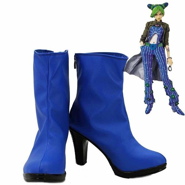 JoJo\'s Bizarre Adventure 6 Jolyne Kujo Cosplay Shoes Blue Boots Custom Made
