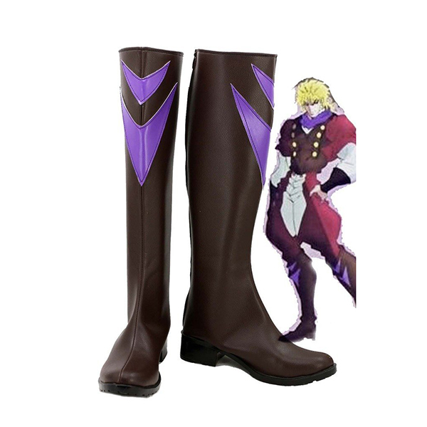 JoJo\'s Bizarre Adventure Dio Brando Cosplay Shoes Brown Boots Custom Made