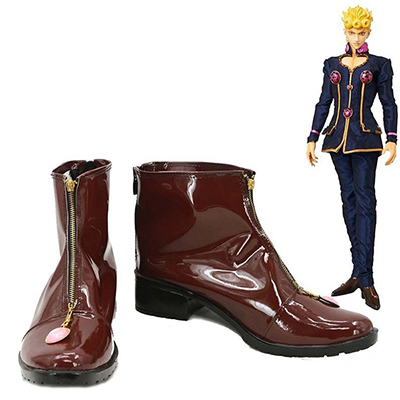 JoJo's Bizarre Adventure Giorno Giovanna Cosplay Shoes Brown Boots Custom Made