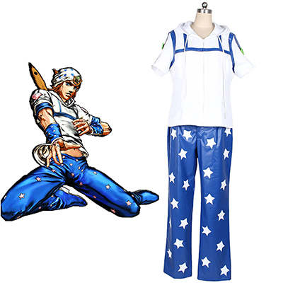 Costume JoJo's Bizarre Adventure Johnny Joestar Cosplay Déguisement