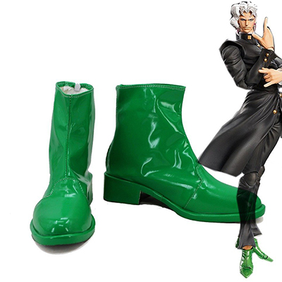 JoJo's Bizarre Adventure Kakyoin Noriaki Cosplay Shoes Green Custom Made