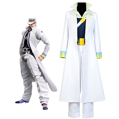 JoJo's Bizarre Adventure Kujo Jotaro Cosplay Costume White Tailor Made