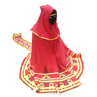 Video Spel Rood Robe Scarf Halloween Anime Cosplay Kostuum