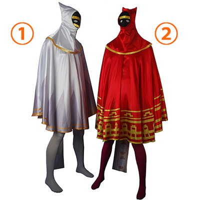 Fantasias de Video Jogos Journey Cosplay robe w trailing scarf robed Cosplay