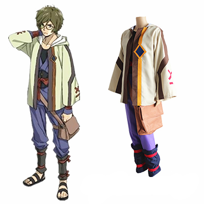 Kabaneri of the Iron Fortress Ikoma Cosplay Puku with Bag Asut