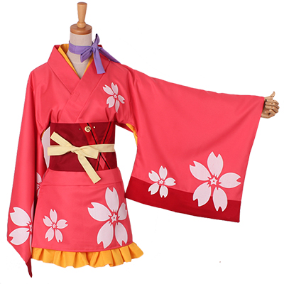 Kabaneri of the Iron Fortress Kabaneri Kimono Cosplay Kostymer